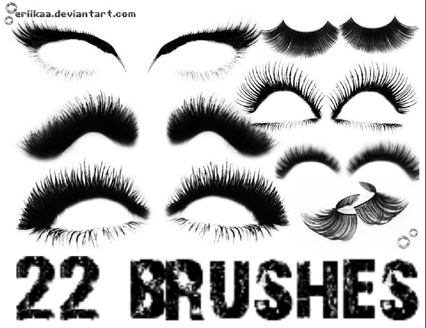 20 eyelash brushes collection