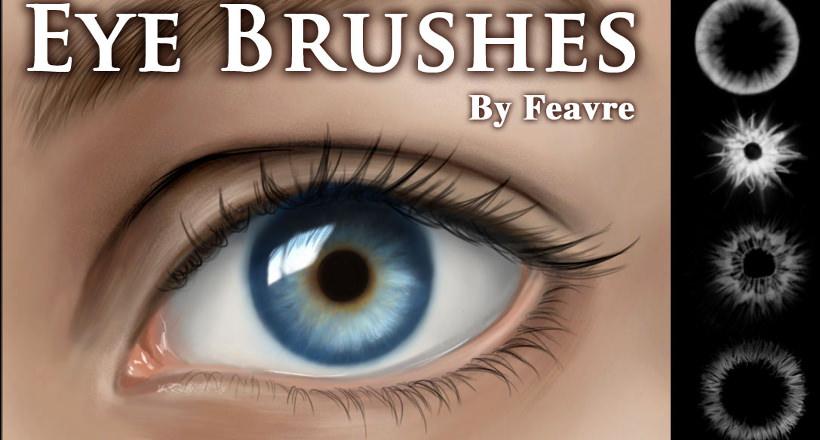 12 Eye Eyelash Brushes Download For Photoshop Gimp Design