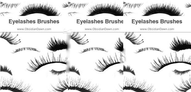 set of eyelash brushes download