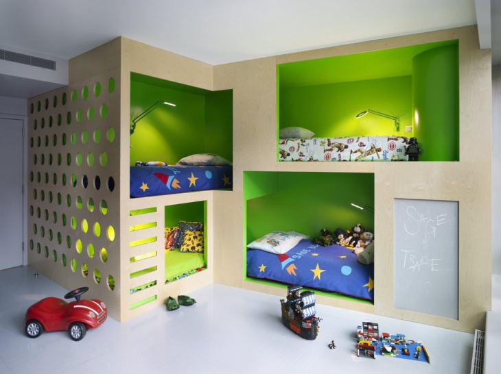 Plywood Kids Playhouse Interior.