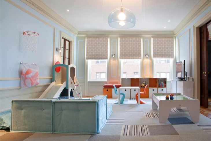 Creative Kids Playroom Interior