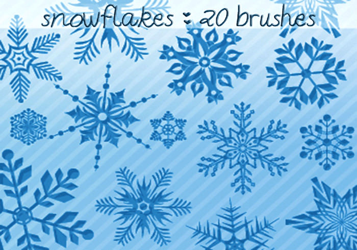 christmas snowflake brushes