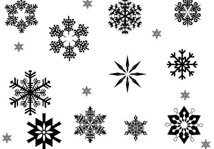 assorted snowflake brushes