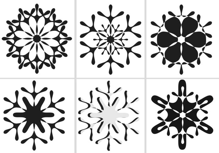 winter snowflake brushes