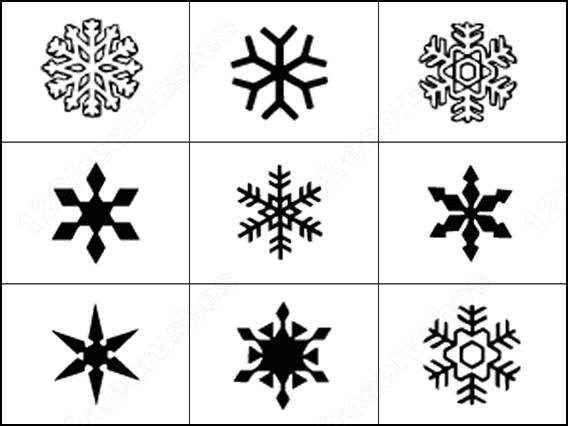 elehant snowflake brushes
