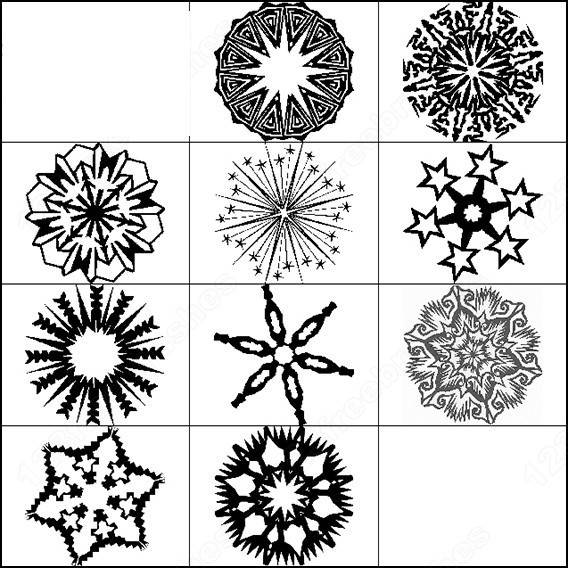 hand drawn snowflake brushes
