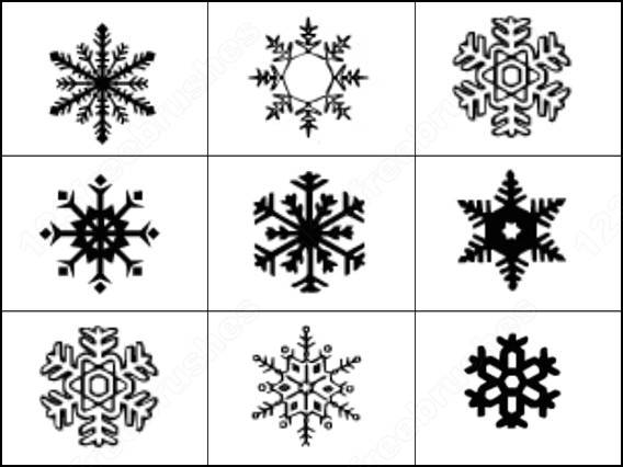 simple snowflake brushes