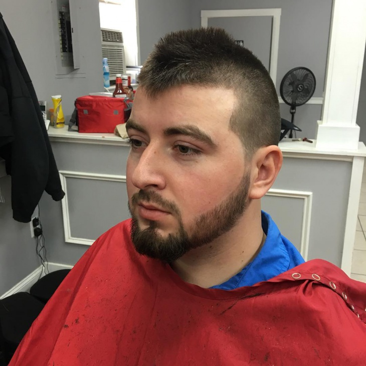 Stylish High Fade Hair For Beard Man