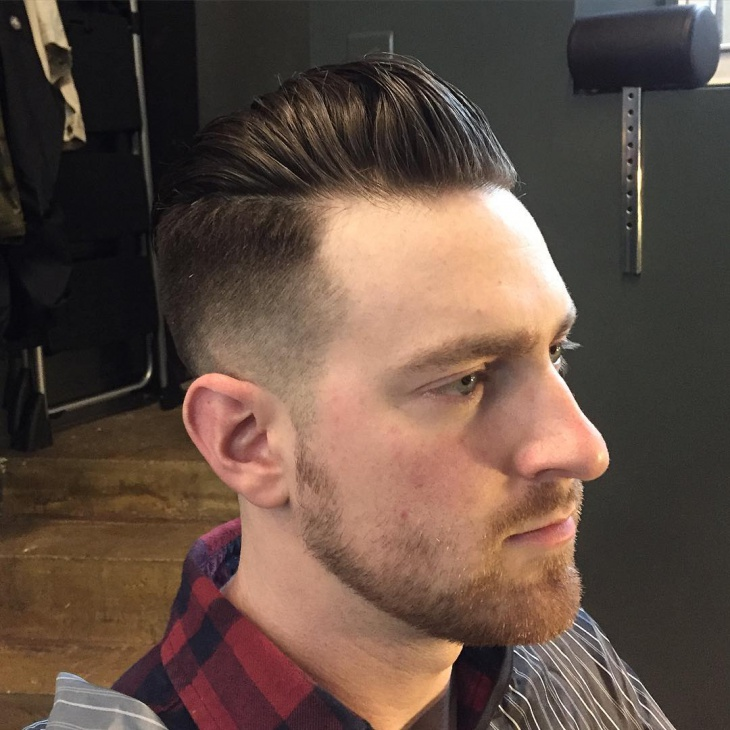 Combover Fade Haircut For Men