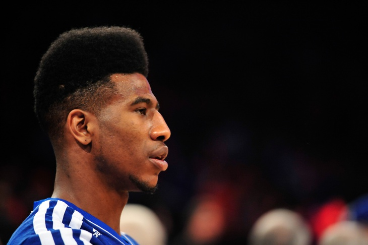 Iman Shumpert Curly Faded Haircut