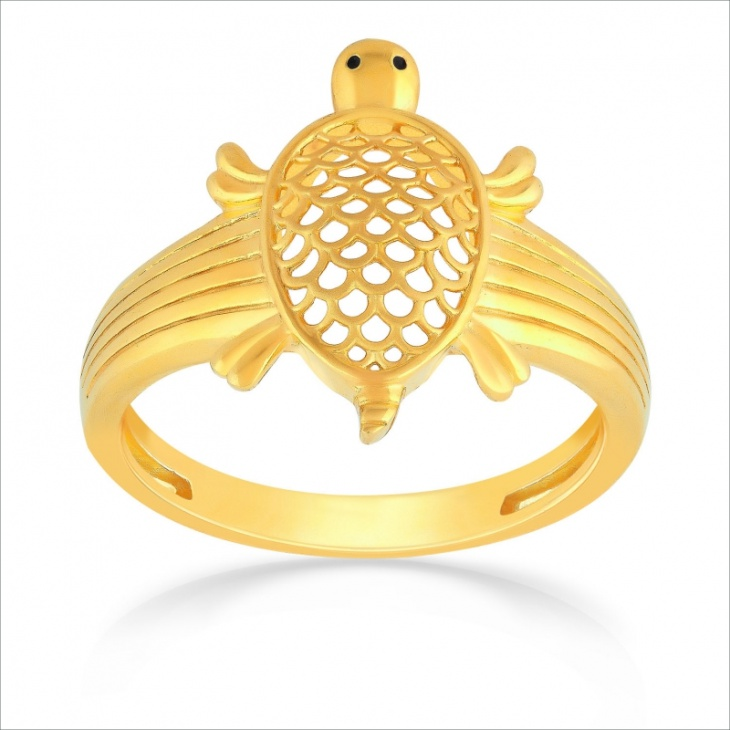 Tortoise Gold Ring Design for Men