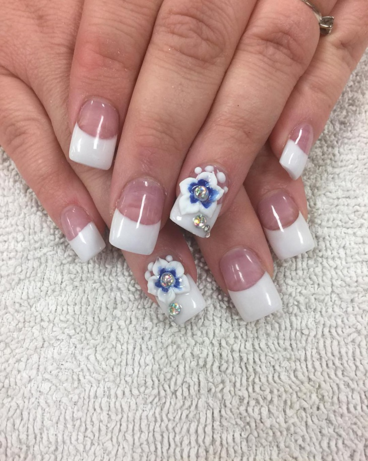 20 white tip nail art designs ideas design trends premium gel nail design with white tip prinsesfo Images