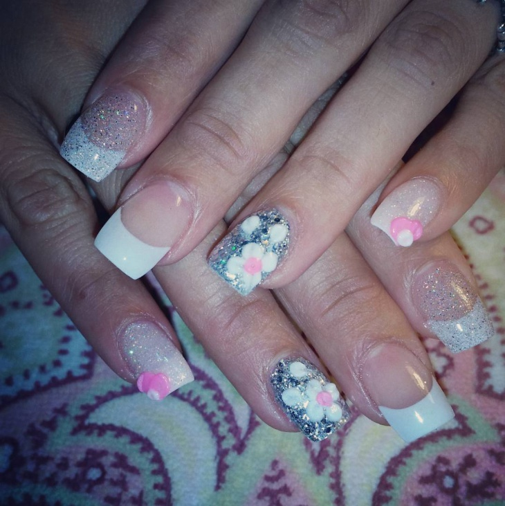 classic white nail art design