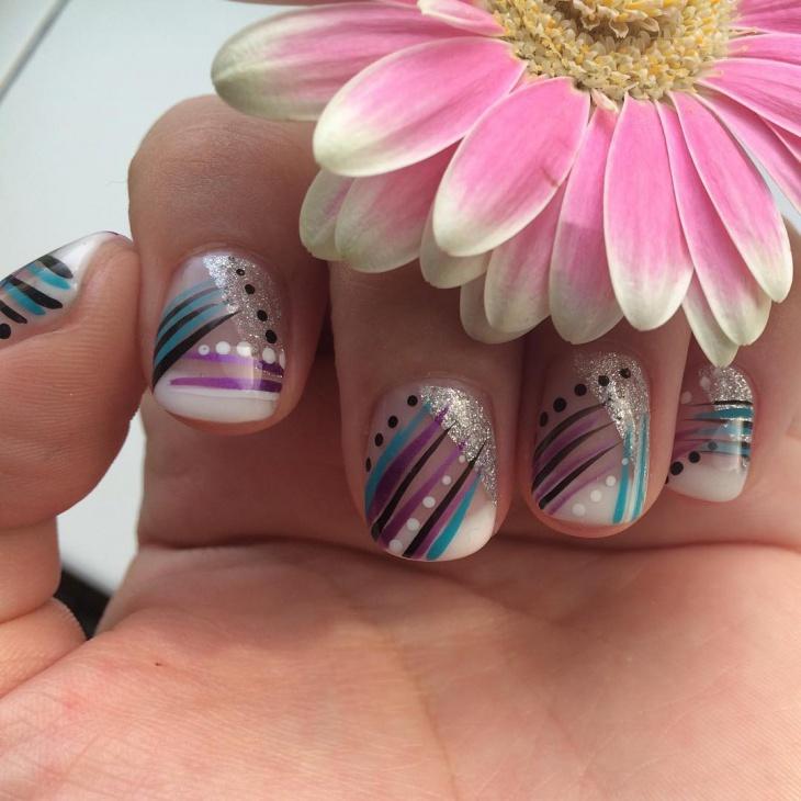 colorful nail art design