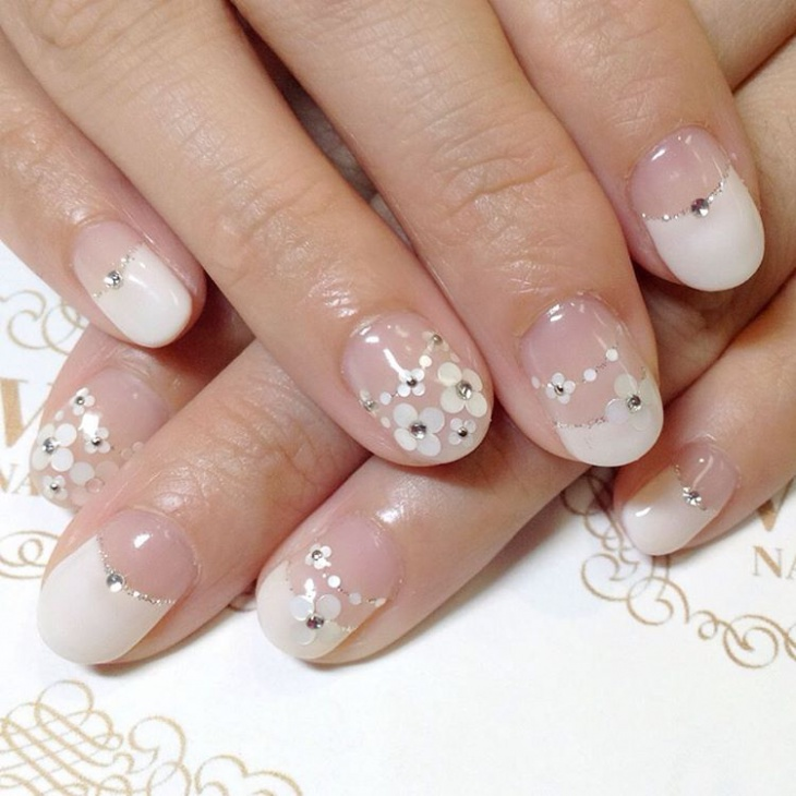 Floral Gel Nail Design Picture