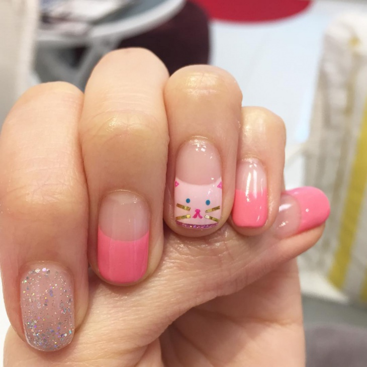 Kitty Cat Nail Art Idea