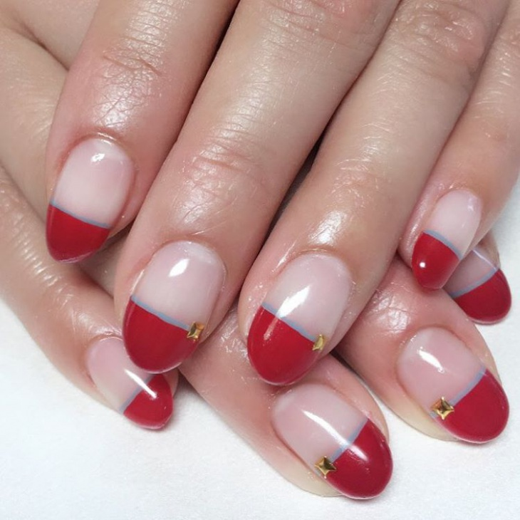 Red Tip French Manicure Designs
