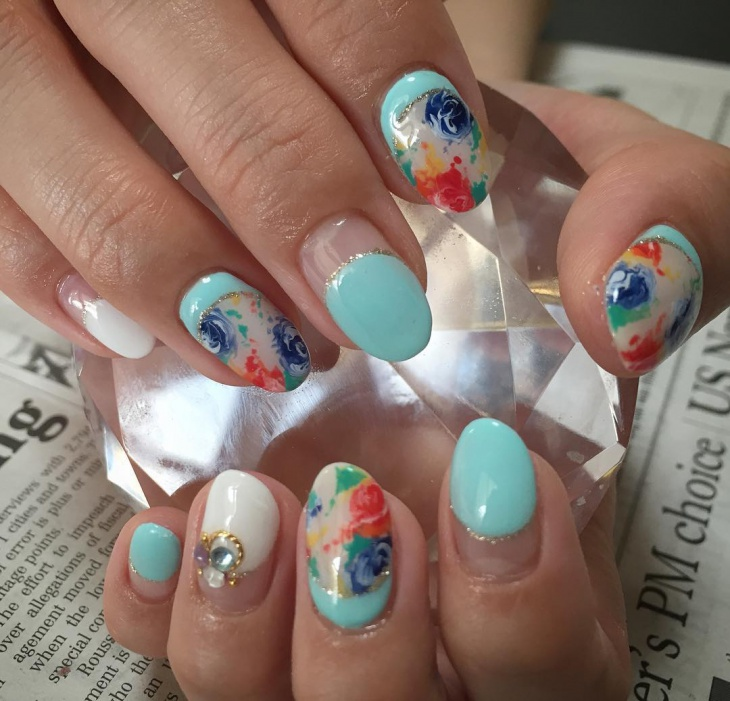 French Summer Nail Art Picture