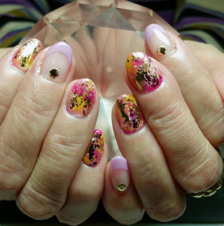 french crush art nails