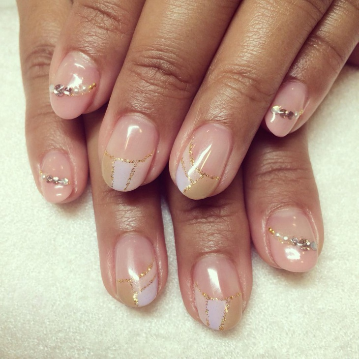 Easy French Nail Design Picture