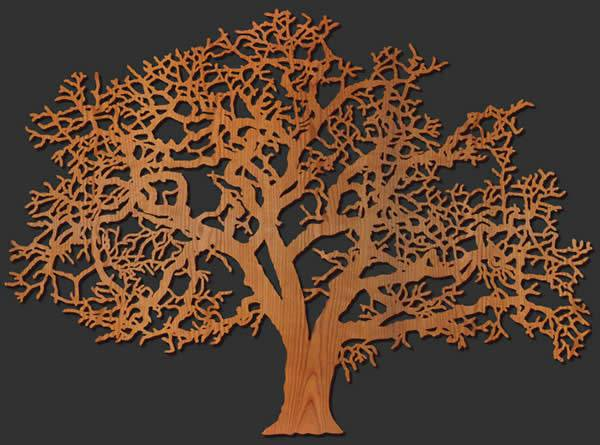 Tree Wood Wall Art Design