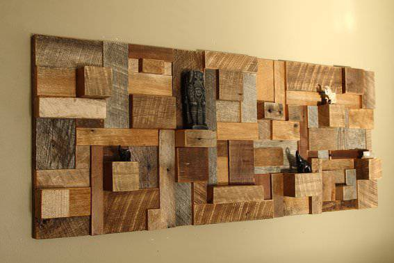 Slices Wood Wall Art Design