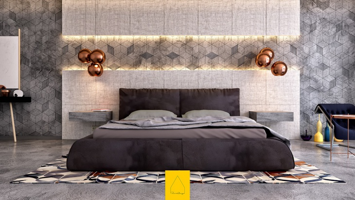 luxury Bedroom Lighting Idea