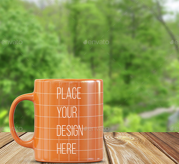 Flat Simple Mug Mockup