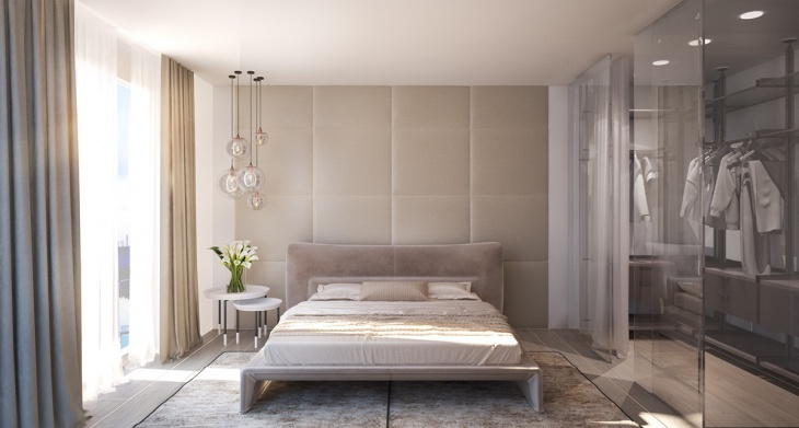 Stylish Bedroom with Wadrobe Idea
