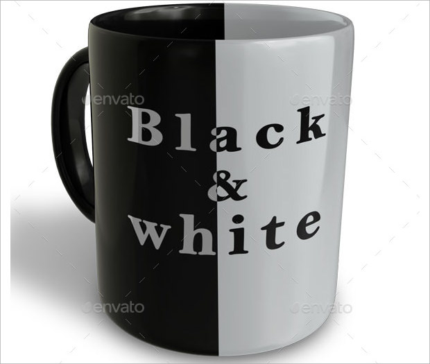Black and White Mug Mockup