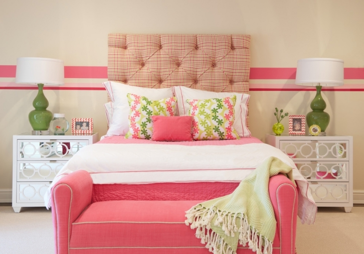Vintage Chic Pink Bedroom