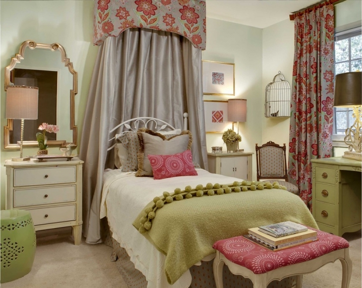 20+ Vintage Teen Girls Bedroom Designs, Decorating Ideas ... on Room Decor For Teens  id=88117