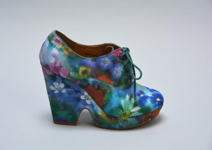 Kids Floral Platform Shoes