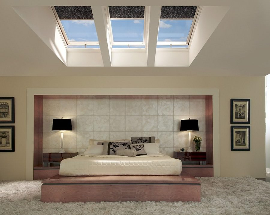 Stylish Skylight Bedroom Design