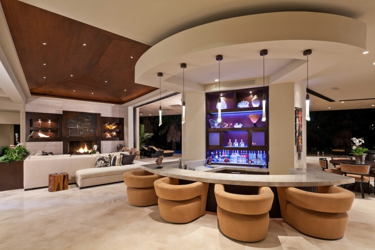 Charmant Luxurious Living Room Bar Idea