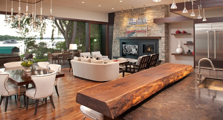 Amazing Living Room Bar Designs