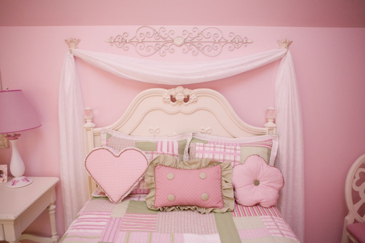 girls pink bedroom room interiors