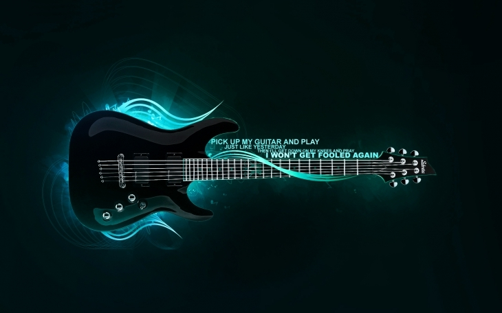 Quote Guitar Wallpaper