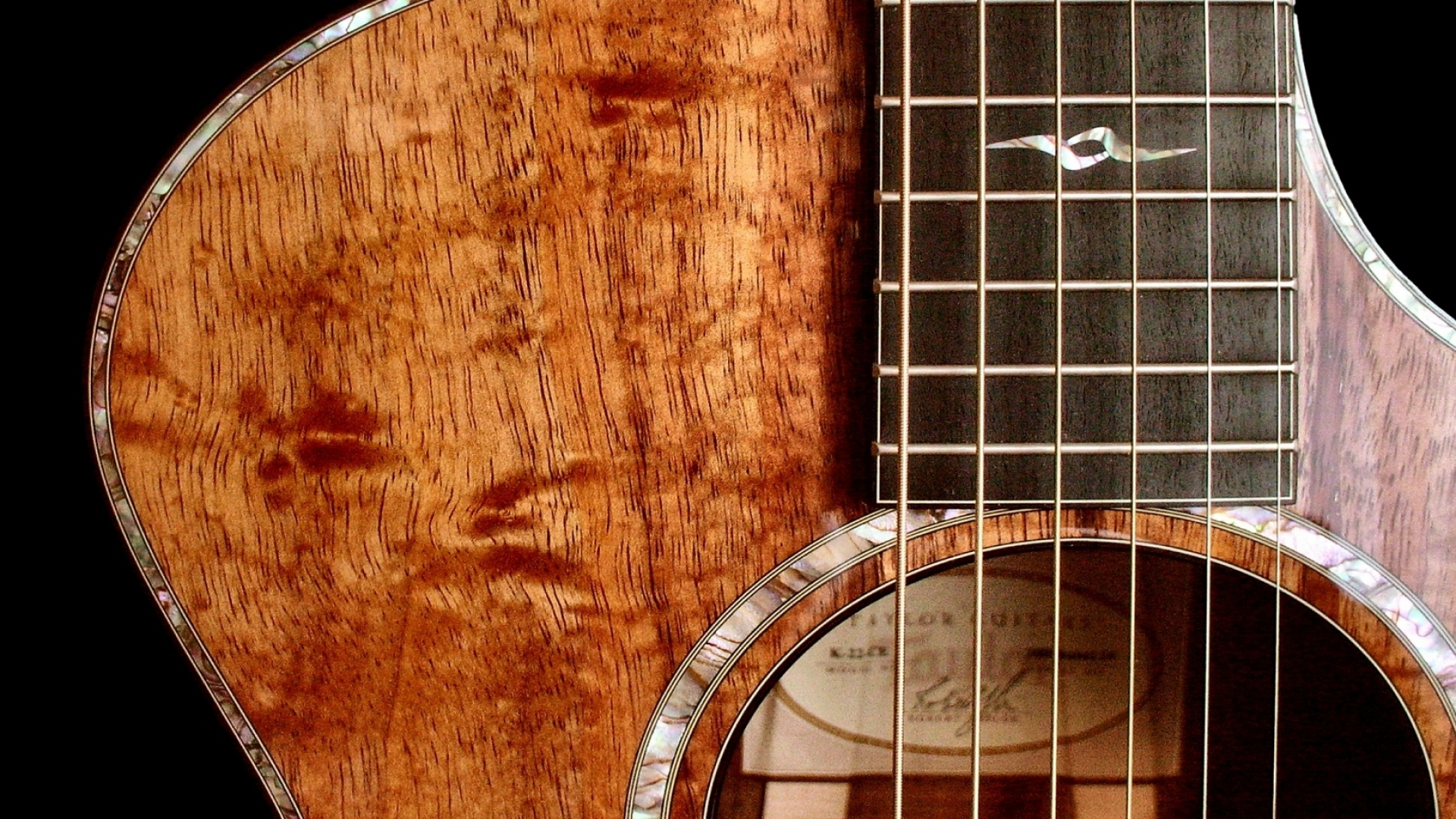 Wood Guitar String Wallpaper