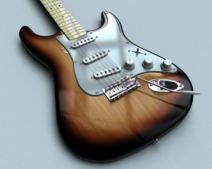 Glossy Guitar hd Wallpaper