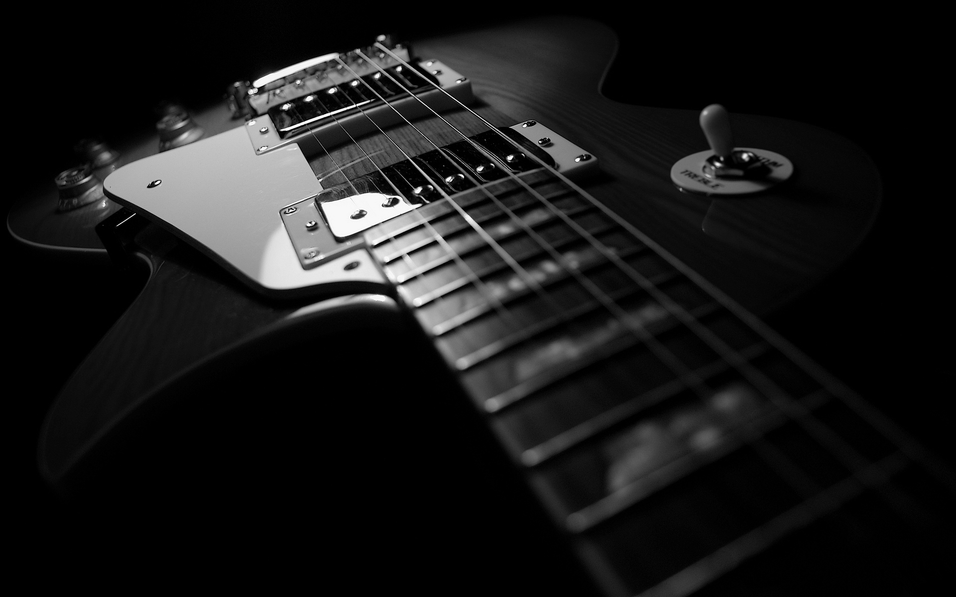 Black Electric Guitar Wallpaper