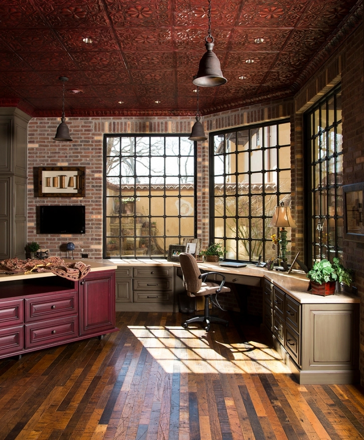 20+ Industrial Home Office Designs, Decorating Ideas