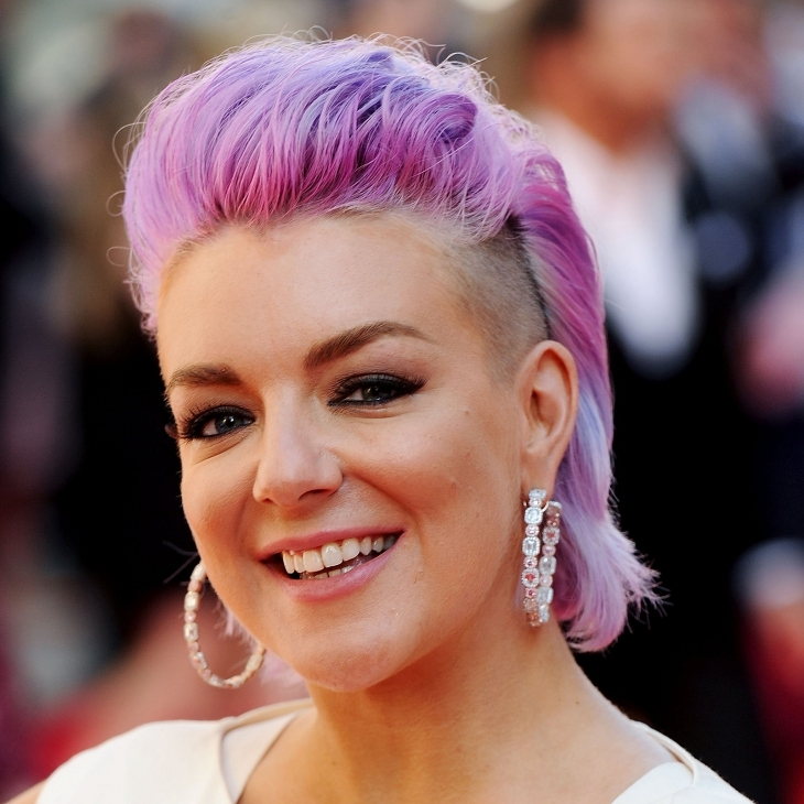 sheridan smith purple mohawk hair