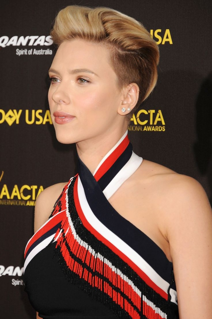 scarlett johanssons polished mohawk
