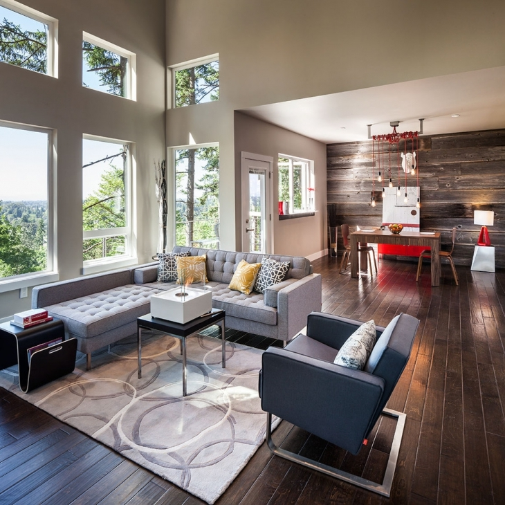Stylish L Shape Sofa in Family Room