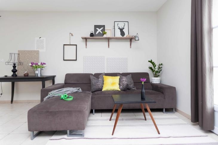 Gray L Shape Sofa Idea