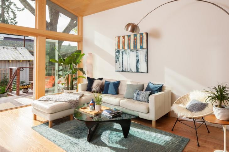 Small L Shape Sofa Set
