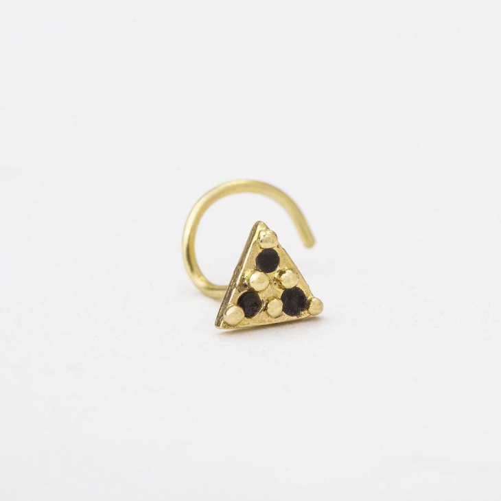 Triangle Shape Nose Ring Design