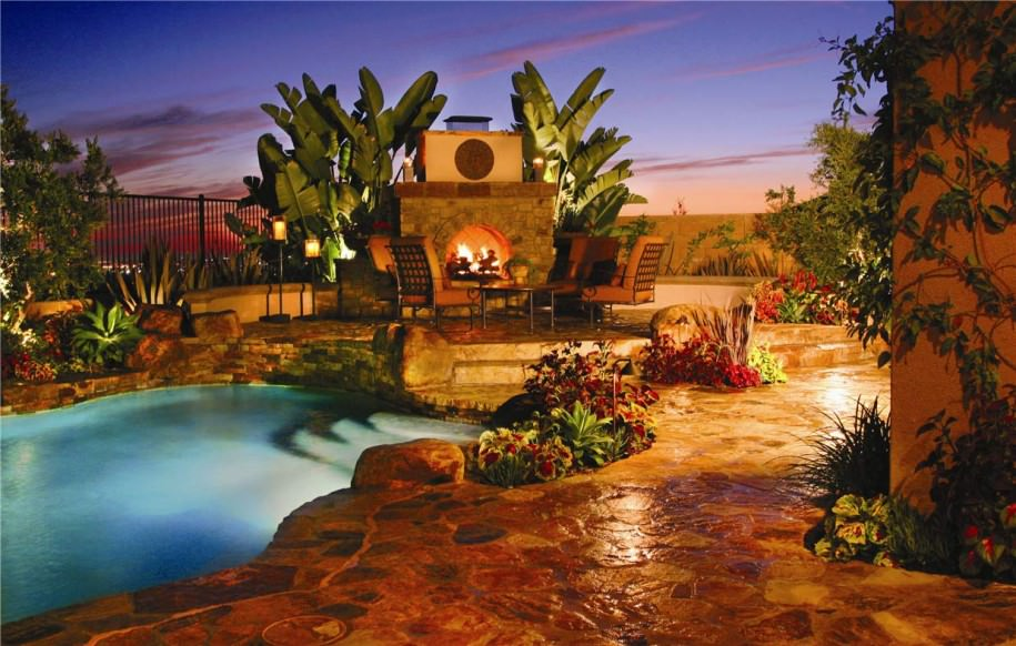 exclusive ultimate swimming pool designs with backyard outdoor fireplace homesthetics