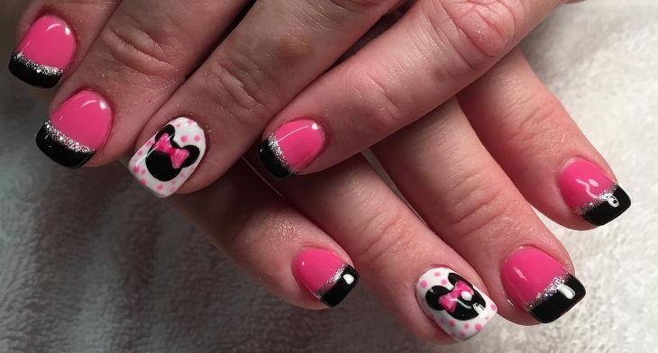 14 Minnie Mouse Nail Art Designs Ideas Design Trends Premium